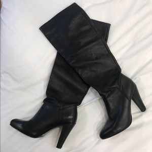Zara Leather High Knee Boots